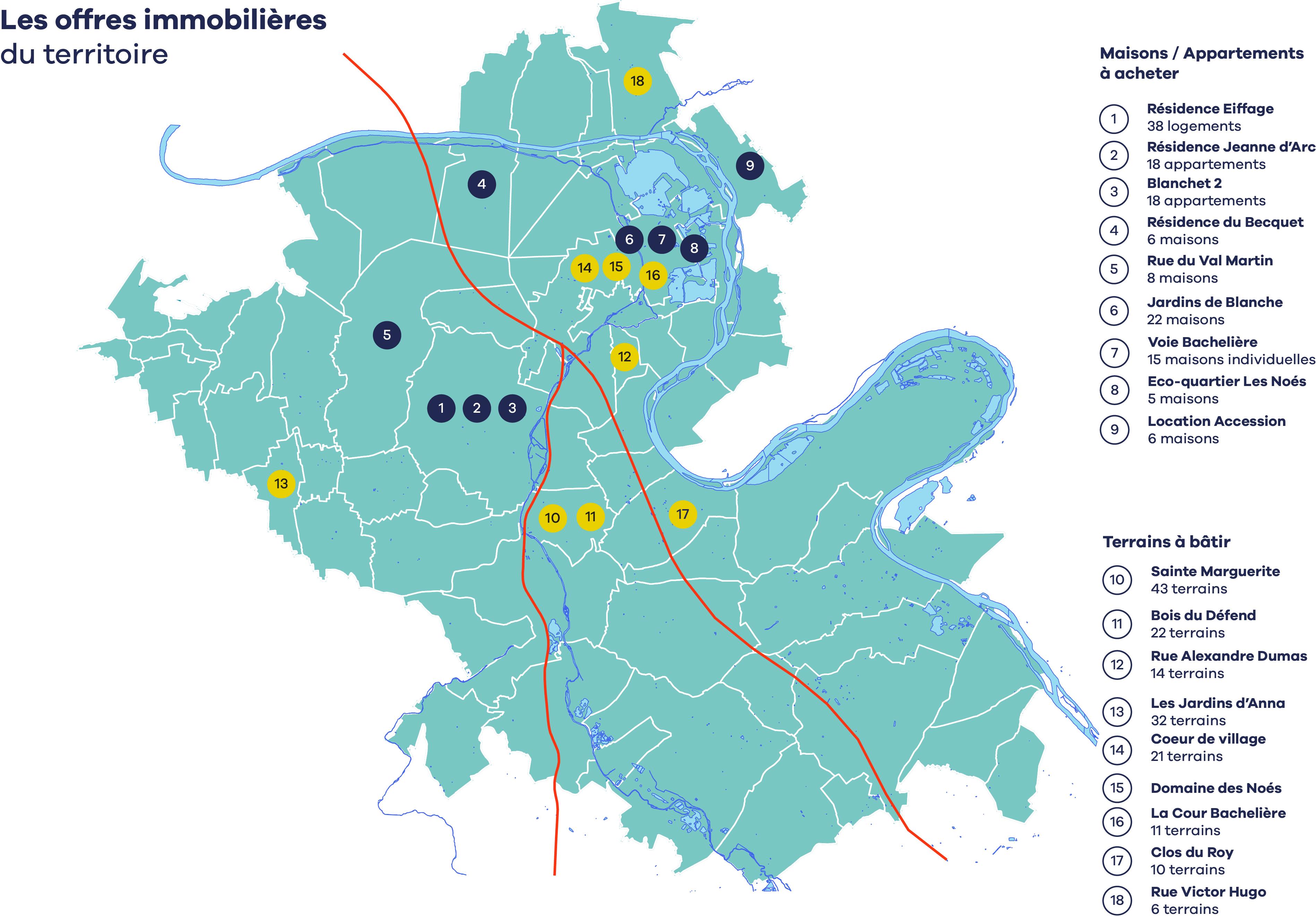 Carte des offres immobilières en Seine-Eure