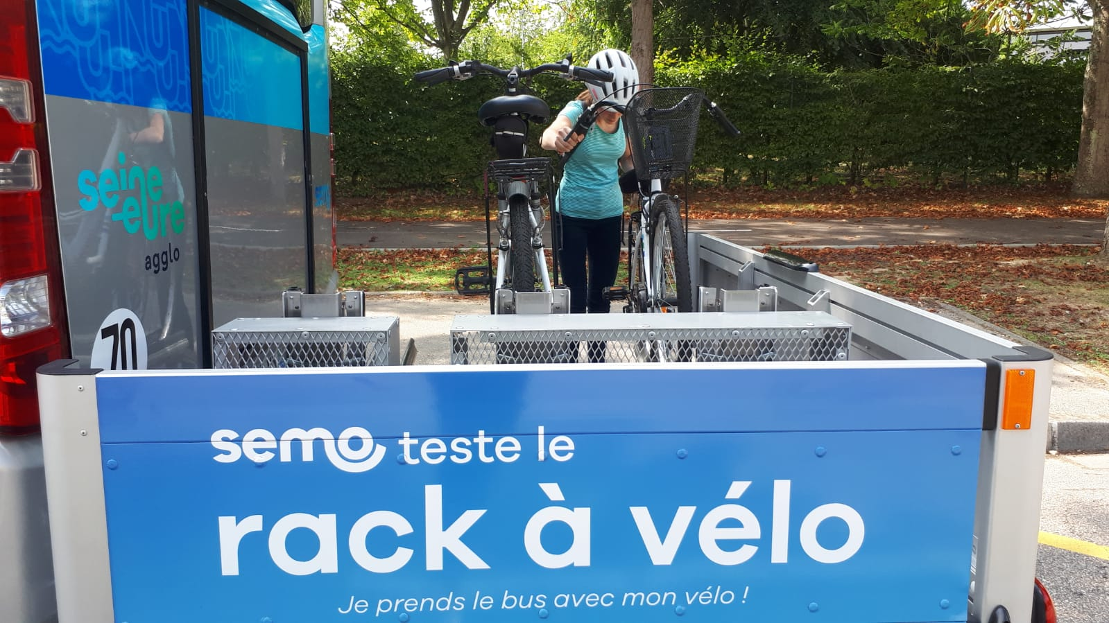 Les racks à vélo : innovation sur le réseau Semo