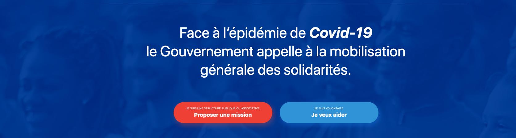 Coronavirus: Une plateforme de solidarité lancée par le Gouvernement