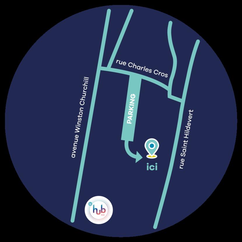Carte d'accès aux services techniques de l'Agglomération Seine-Eure