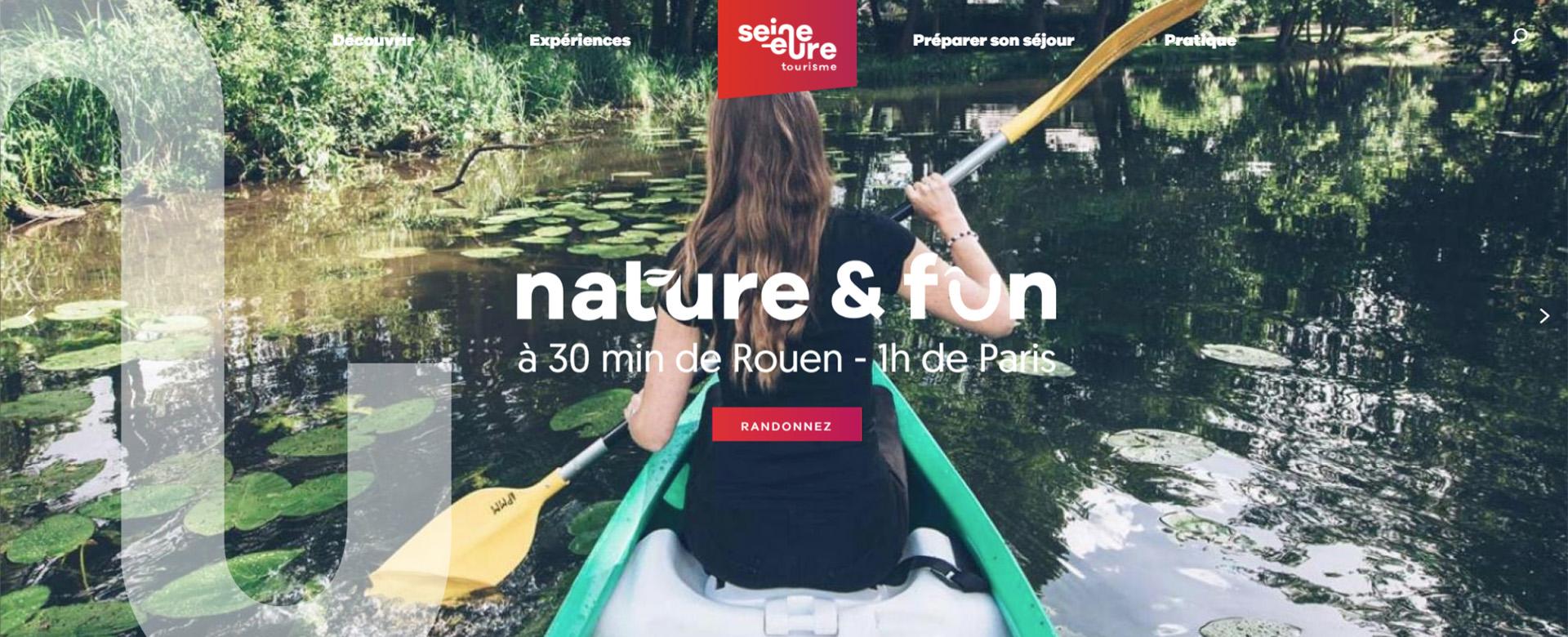 Le site internet de l'Office de Tourisme Seine-Eure invite à un voyage plus fun et plus intuitif