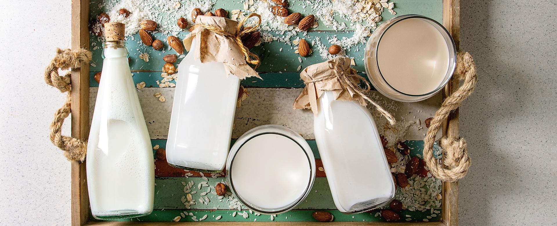 Les laits et les crèmes végétaux